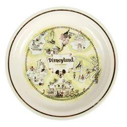 Disneyland Map Plate.