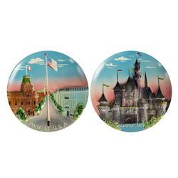 Disneyland 3-D Decorative Wall Plates.