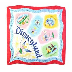 Disneyland Red Silk Scarf.