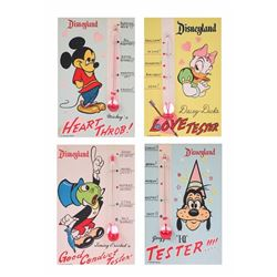 Collection of (4) Disneyland Character Thermometer Testers.