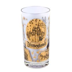 Disneyland Lands Gold-Tone Glass.