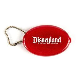 Disneyland Red Vinyl Coin Holder.