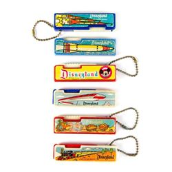 Set of (6) Disneyland Keychain Flashlights.