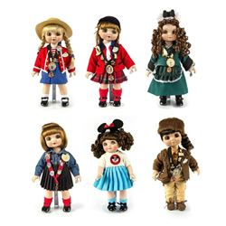 "Set of (6) Marie Osmond Disneyland ""Adora Belle"" Dolls."