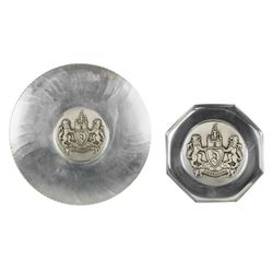 Pair of Matching Disneyland Crest Trays.