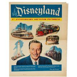 """Disneyland 1st Anniversary Souvenir Pictorial""."