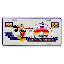 Disneyland 30th Anniversary License Plate.
