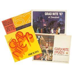 Set of (4) Grad Nite at Disneyland Souvenir Programs.