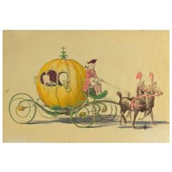 Cinderella Carriage Hand-Colored Concept Brownline.