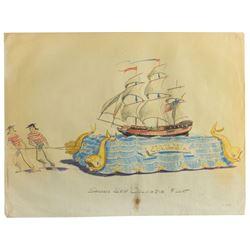 """""""Sailing Ship Columbia"""" Parade Float Design."""