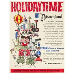 """Holidaytime at Disneyland"" Poster."