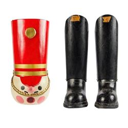 Toy Soldier Character Costume Head & Boots.
