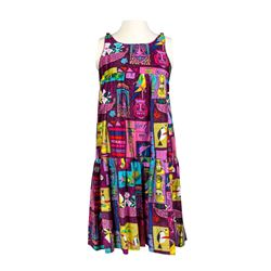 """Enchanted Tiki Room"" Cast Member Sleeveless Dress - Pattern A."