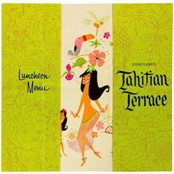 Tahitian Terrace Luncheon Menu.