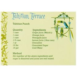 Tahitian Terrace Recipe Card.