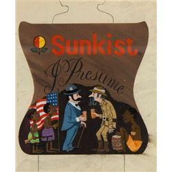 "Original ""Sunkist I Presume"" Sign Concept Painting."