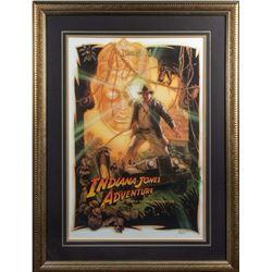 "Drew Struzan Signed ""Indiana Jones Adventure"" Poster."