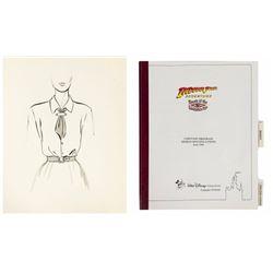 Indiana Jones Adventure  Costume Book & Sketch.