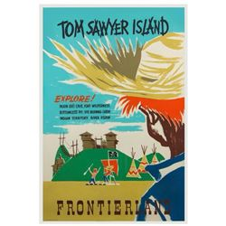Tom Sawyer Island  Rare Variant Attraction Poster.