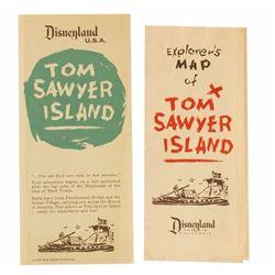 "Pair of ""Tom Sawyer Island"" Explorer's Maps."