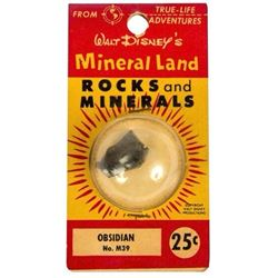 """Mineral Land Rocks and Minerals"" No.M39 - Obsidian."