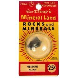 Mineral Land Rocks and Minerals  No.M39 - Obsidian.