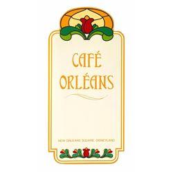 Cafe Orleans Menu.
