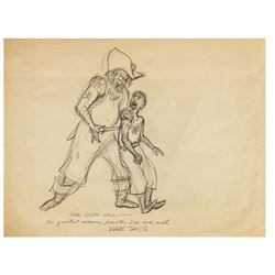 "Marc Davis ""Pirates"" Development Drawing for Clem Hall."