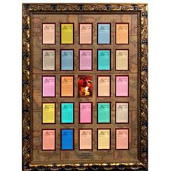 """Fortune Red"" Framed Set of Pirates Cards."