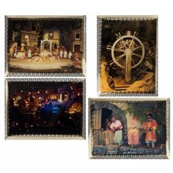 "Set of (4) ""Pirates"" Lenticular Cards."