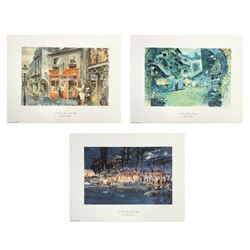Set of (3) Herb Ryman Concept Art Lithographs.