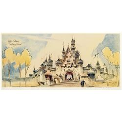 "Signed ""Sleeping Beauty Castle"" Concept Art Limited Edition."