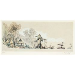 "Signed ""Jungle Cruise"" Concept Art Limited Edition."
