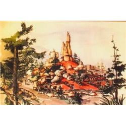 "Signed ""Big Thunder Mountain"" Concept Art."