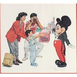 """Happy Birthday Mickey"" Signed Lithograph by Charles Boyer."