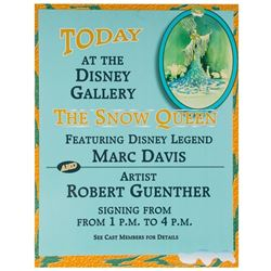 """Disney Gallery"" Marc Davis Artist Event Sign."