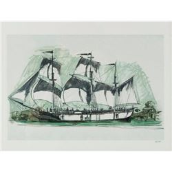 """The Columbia Sailing Ship"" Concept Art Print."