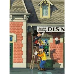 Charles Boyer Disneyland 200 Millionth Guest Painting.