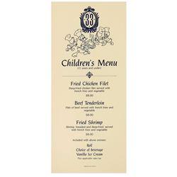 """""""Club 33"""" Children's Menu."""