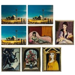"Set of (8) ""Haunted Mansion"" 30th Lenticular Cards."