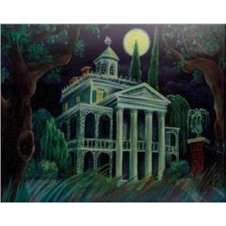 """Haunted Mansion"" Lenticular Changing Portrait."