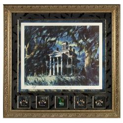 "Signed ""Haunted Mansion"" Concept Art Lithograph."