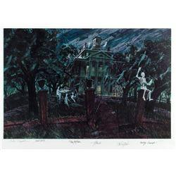 "Imagineer Multi-Signed ""Haunted Mansion"" Print."