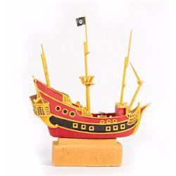 Captain Hook Jolly Roger Pirate Ship Model.