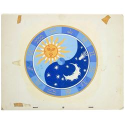 """Skyway Chalet"" Celestial Clock Design Painting."