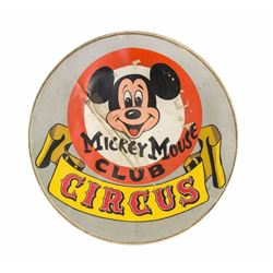 Mickey Mouse Club Circus Hand-Painted Drumhead.