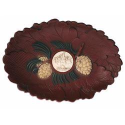 Wood-Look Souvenir Decorative Bowl.