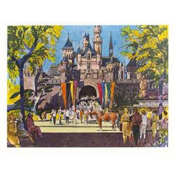 Disneyland United Air Lines Promotional Print.