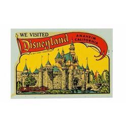 """We Visited Disneyland"" Color Decal."