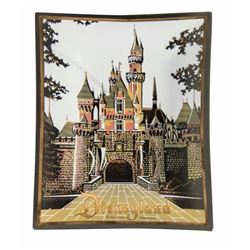 Sleeping Beauty Castle Disneyland Glass Tray.